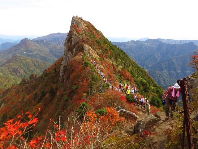 石鎚山、天狗岳の紅葉