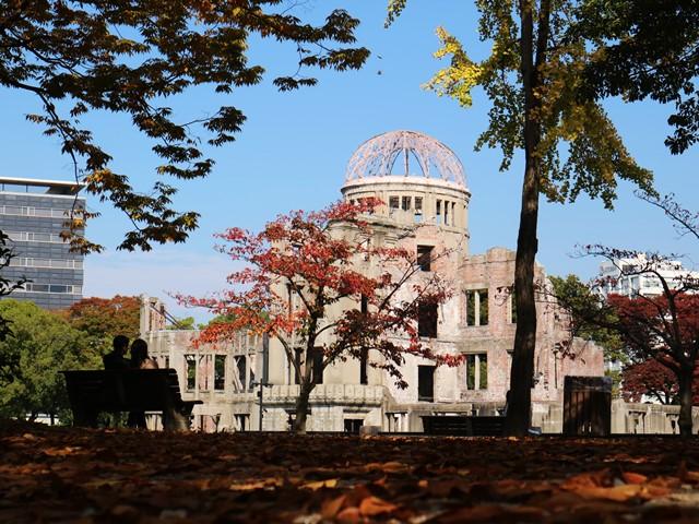 原爆ドームの紅葉